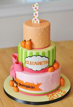 Pumpkin 1st Birthday Cake by Cakebox Special Occasion Cakes, via Flickr