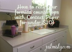 How To Redo Your Countertops By Covering Them With Contact Paper For Under  $10