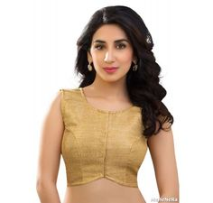 golden JUTE CROP TOP - Blouses - Saree,Blouse & more