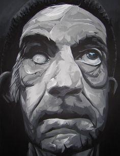 Portrait. Oil on canvas. Homeless. Retrato