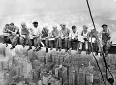 """""""Lunch Atop a Skyscraper"""" by Charles Ebbets 1932"""