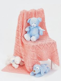 Free Pattern - Cute little #knit baby blanket to cradle the new arrival.