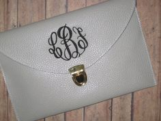 ON SALE Monogrammed clutch FREE shipping