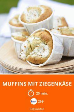 Muffins mit Ziegenkäse - smarter - Kalorien: 269 Kcal - Zeit: 20 Min. | eatsmarter.de