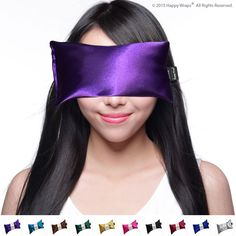 Satin Lavender Eye Pillow - Free Shipping w/ Amazon Prime! ★ Migraine, Stress Relief - #1 Hot/Cold Yoga Eye Pillow - Made in USA Since 1991 ★ 100% Satisfaction Guaranteed ★ Filled With French Lavender & Organic Flax Seed. Eye Pillows By Happy Wraps®