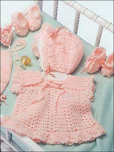 Crochet - Children & Baby Patterns - Layette Patterns - Girl's Layette