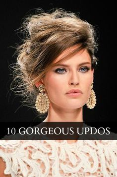 messy high updos with bangs - Google Search