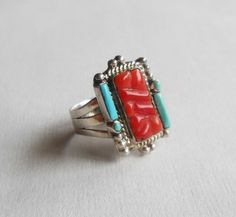 Unique Vintage Chunky Coral and Turquoise Southwest by DejaBlonde