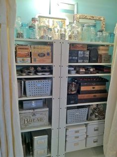 My Make Room Closet I Used 2 Wood Shelf Kits From Menards