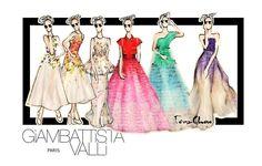 My Illustration from Giambattista Valli Haute Couture 2015 collection.  #giambattistavalli #hautecouture #fashion #illustration #fashionillustration #collection