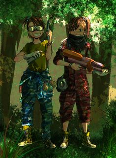 Imagem de anime girl and airsoft