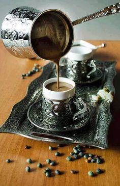 Turkish coffee serving