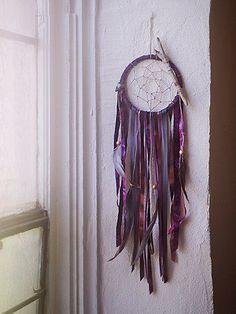Free People Crystal Dreamcatcher//love the colored leather fringe