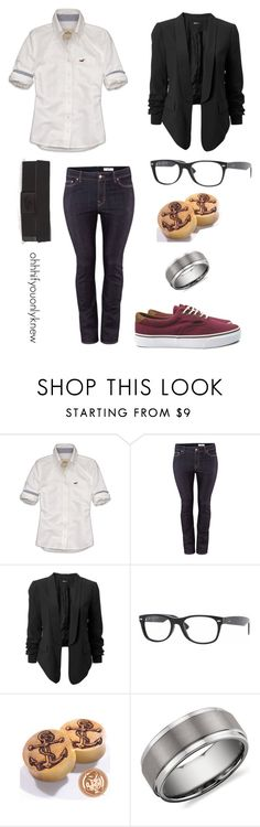 """""""Untitled #165"""" by ohhhifyouonlyknew ❤ liked on Polyvore featuring Hollister Co., H&M, Ray-Ban, Blue Nile, Vans, tomboy, homo, my style, dyke fashion and lgbt"""