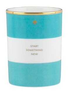 "Scented Candle ""Start Something New"" @Kate Mazur Mazur spade new york"