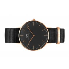 Classic Black Cornwall 36 Rose Gold