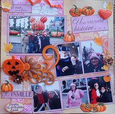 Page de scrap disney halloween en famille