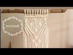 Tapiz de MACRAMÉ paso a paso, Tutorial de macrame facil en español, tejido de pared estilo boho - YouTube Macrame Knots, Micro Macrame, Knot Braid, Macrame Projects, Macrame Tutorial, Macrame Patterns, Celtic Designs, Estilo Boho, Needlepoint