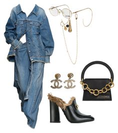 A fashion look from July 2017 featuring Gucci shoes, Jacquemus shoulder bags and Chanel earrings. Browse and shop related looks. Kpop Outfits, Swag Outfits, Mode Outfits, Chic Outfits, Fashion Outfits, Womens Fashion, Polyvore Outfits, Polyvore Fashion, Expensive Clothes