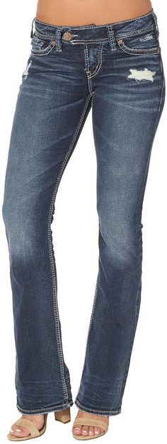 Silver Jeans Co. Fashion Hub, Fashion Brands, Womens Fashion, Low Rise Bootcut Jeans, Slim Hips, Juniors Jeans, Silver Jeans, Jeans Brands, Stretch Denim