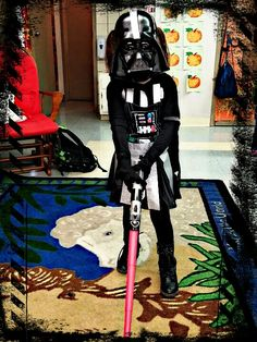 Darth vader costume i made for my little girl