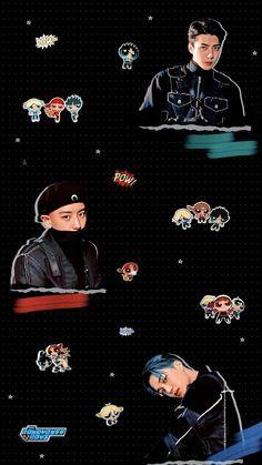 — sky + the rowdyruff boys . Exo Kai, Exo Chanyeol, K Wallpaper, Wallpaper Backgrounds, Aesthetic Pastel Wallpaper, Aesthetic Wallpapers, Sekai Exo, K Pop, Exo Lockscreen