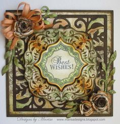 Designs by Marisa created this card using JustRite Papercraft products