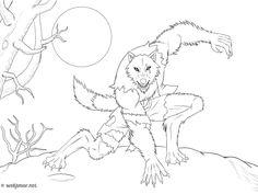 """Résultat de recherche d'images pour """"image de dessin de loup garou"""""""