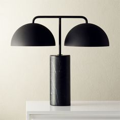 On sale. Shop Domes Black Marble Table Lamp. Studious gets stylish. Mermelada Estudio updated the classic library table lamp in a sleek monochromatic mix of black marble and textured metal shades. Proof that old ideas can be modernized with a few simple tweaks to color and design.