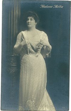 Nellie Melba Opera Soprano Postcard