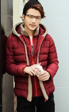 "The ""Hyde"" Wool Trim Double Layer Hooded Coat"