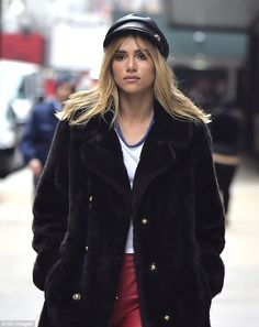 Stunning: Suki Waterhouse, 24, proved why she has carved such a successful career as a mod...