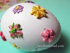 Embroidered Eggs: Raised & Woven Stitches are Easy – Needle'