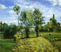 Spring Morning, Pontoise - Camille Pissarro