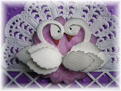 Valita's Designs & Fresh Folds: Punched swans tutorial and something sweet