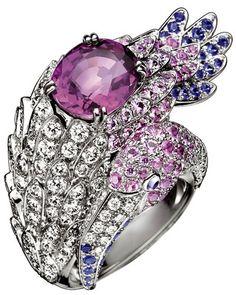 GABRIELLE'S AMAZING FANTASY CLOSET | Boucheron Ring Cabochon Pink Sapphire and Diamond Ring