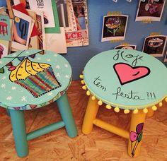 Encomenda especial! Ateliejuamora@gmail.com #banqueta #stool #ateliejuamora #juamorinha #decorkids #crianças