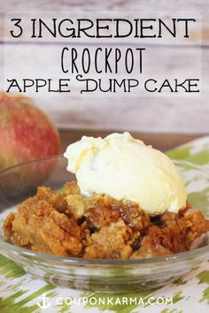 This is a must have fall dessert! Cake mix, butter and apple pie filling. Easy!
