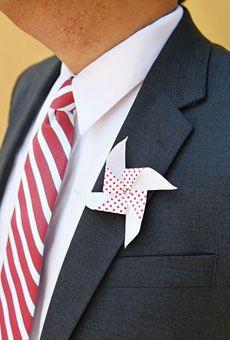 Pinwheel boutonnieres #weddings #grooms Photo by Kella MacPhee