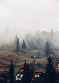 That autumn fog over the French hills.