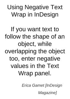 InDesign :: Using Negative Text Wrap