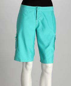 Modest board shorts for women! $17.99 Take a look at this Turquoise Sally Boardshorts by Beach Rays on #zulily today!