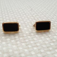 Vintage Gold Tone and Black Clip Earrings Signed Christian Dior - http://designerjewelrygalleria.com/christian-dior/vintage-gold-tone-and-black-clip-earrings-signed-christian-dior-2/