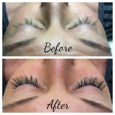 Before/After Lash Extensions by Sheyanne (J.CON Salon-Gateway)