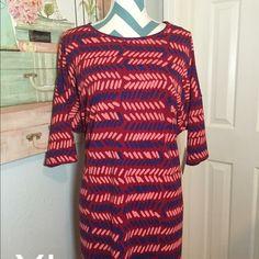 LuLaRoe Irma Tunic Blue/pink/red tunic LuLaRoe Tops Tunics