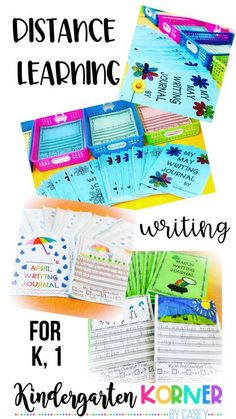 Are you a teacher looking to prep writing packets for distance learning for Kindergarten or First Grade? Maybe you are a parent looking for quality writing resources to home-school your child. The unprecedented situation of schools closing due to the Coronavirus has both parents and teachers looking for remote learning ideas. I am here to help...#homeschooling #distancelearning #coronavirus #onlinelearning #kindergarten #firstgrade #workonwriting #writingjournals #remotelearning 1st Grade Writing, Kindergarten Writing, Kindergarten Teachers, Writing Art, Writing Workshop, Home Learning, Toddler Learning, Learning Centers, Writing Resources