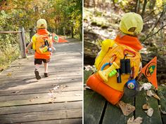 DIY Halloween Costume for Russell from Pixar's UP--the cutest Wilderness Explorer Backpack!     http://www.solandrachel.com/2012/10/how-to-make-russell-and-mr-fredericksen.html