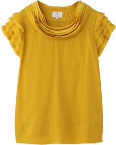 Mustard yellow blouse / ShopStyle: LANVIN en Bleu ブラウス Dressy Tops, Casual Tops, Yellow Blouse, Blouse Styles, Summer Wardrobe, Spring Summer Fashion, Plus Size Outfits, Summer Outfits, Fashion Outfits