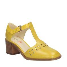 Orla Bibi Yellow Leather - Women's Orla Kiely - Orla Kiely Collaboration - Clarks $220