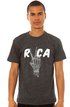 The Hand Study Tee in Black by RVCA